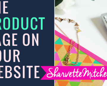 What do I need to set up the Product Page on my website? - #AskSharvette #WebDesigner